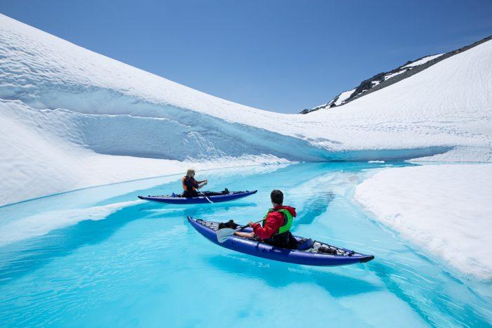 Glacier,kayak,fishing
